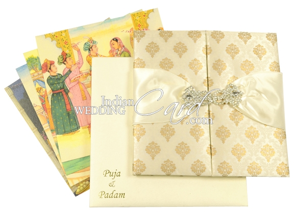 Ribbon and Multilayered Wedding Cards