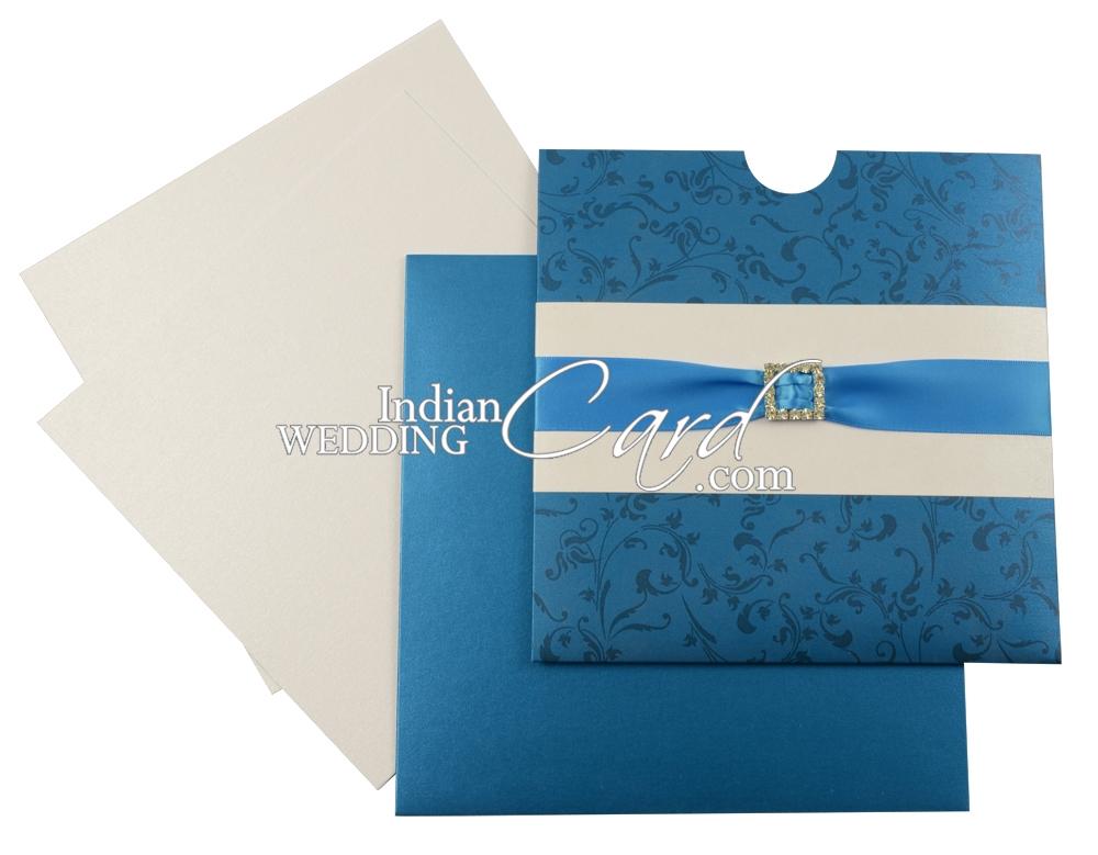 Ribbon n Multi Layered Wedding Invitations