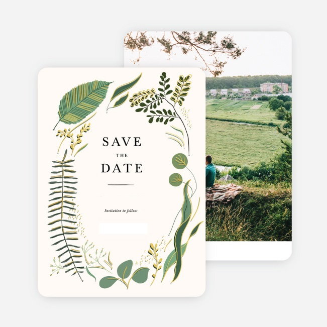 Save-The-Date Wedding Card