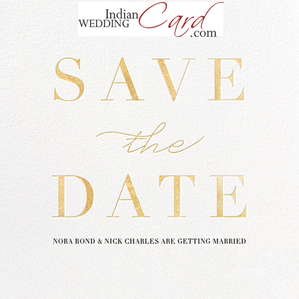 Save The Date Wedding Card