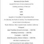 Interesting facts about Indian wedding invitations wording