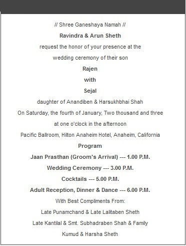 Wedding Cards Wording