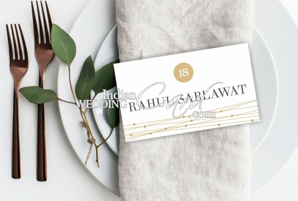 Table wedding Cards