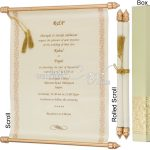 Scroll Wedding Invitations: the classy and regal way to invite your guests