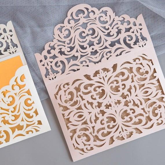 Laser-cut envelopes