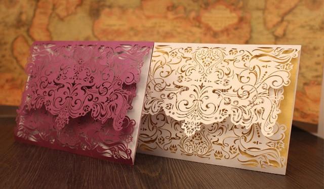 pastel laser-cut wedding invitation cards