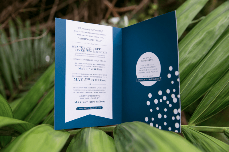 Bi-Fold Pocket Invitation Cards