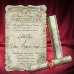 Designer Scroll Wedding Invitation Cards