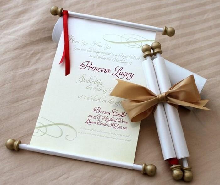 Simple scroll invitations