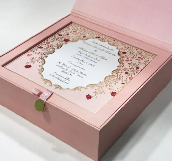 boxed wedding cards